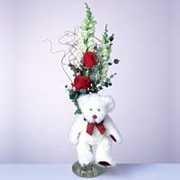 2 adet gül ve panda özel  Ankara Sincan çiçek siparişi vermek