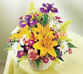 Ankara Sincan çiçek online çiçek siparişi  Karisik mevsim çiçeklerinden sepet tanzimi