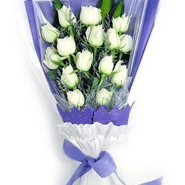 Ankara Sincan çiçek siparişi vermek  11 adet beyaz gül buket modeli