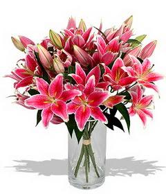 4 dal cazablanca görsel vazosu  Ankara Sincan çiçek siparişi vermek