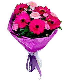 Ankara Sincan online çiçek gönderme sipariş  karışık gerbera çiçeği buketi