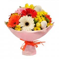 Karışık mevsim buketi Mevsimsel çiçek  Ankara Sincan uluslararası çiçek gönderme