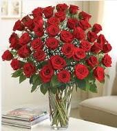 Cam vazoda 51 kırmızı gül süper indirimde  Ankara Sincan çiçek servisi , çiçekçi adresleri
