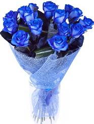 9 adet mavi gülden buket çiçeği  Ankara Sincan internetten çiçek siparişi