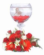 Ankara Sincan çiçek mağazası , çiçekçi adresleri  Kadehte estetik aranjman