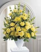 Ankara Sincan online çiçek gönderme sipariş  sari güllerden sebboy tanzim çiçek siparisi