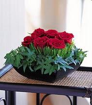 Ankara Sincan online çiçek gönderme sipariş  10 adet kare mika yada cam vazoda gül tanzim
