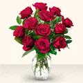 Ankara Sincan ucuz çiçek gönder  10 adet gül cam yada mika vazo da