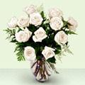 Ankara Sincan kaliteli taze ve ucuz çiçekler  beyaz güller cam yada mika vazo
