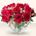 Ankara Sincan yurtiçi ve yurtdışı çiçek siparişi  mika yada cam içerisinde 10 gül - sevenler için ideal seçim -