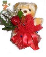 oyuncak ayi ve gül tanzim  Ankara Sincan online çiçek gönderme sipariş