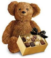 çikolata ve oyuncak ayicik  Online Ankara Sincan çiçekçiler