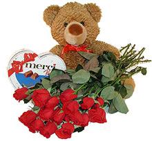 oyuncak çikolata  12  gül   Ankara Sincan ucuz çiçek gönder