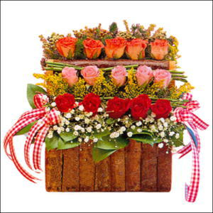 sandikta 3 kat güllerden   Ankara Sincan çiçek online çiçek siparişi