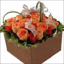 kare sandikta 11 gülllerden   Ankara Sincan çiçek siparişi vermek