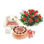 ayicik yaspasta ve gül   Ankara Sincan çiçek , çiçekçi , çiçekçilik