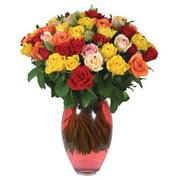 51 adet gül ve kaliteli vazo   Ankara Sincan çiçek , çiçekçi , çiçekçilik