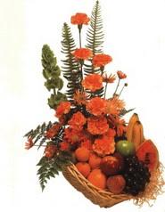 sepet kir çiçekleri meyva   Ankara Sincan hediye çiçek yolla