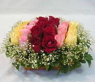 15 adet reprenkli gül sepeti   Ankara Sincan ucuz çiçek gönder