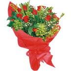 10 adet kirmizi gül buketi  Ankara Sincan ucuz çiçek gönder