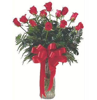12 adet gül cam içerisinde  Ankara Sincan çiçek online çiçek siparişi