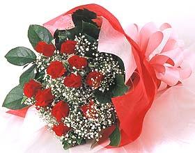 12 adet kirmizi gül buketi  Ankara Sincan hediye sevgilime hediye çiçek