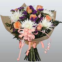 güller ve kir çiçekleri demeti   Ankara Sincan cicekciler , cicek siparisi