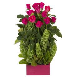 12 adet kirmizi gül aranjmani  Ankara Sincan çiçek yolla , çiçek gönder , çiçekçi