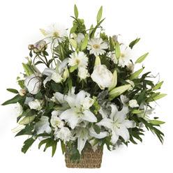 sepet içerisinde karisik mevsim çiçekleri  Ankara Sincan 14 şubat sevgililer günü çiçek