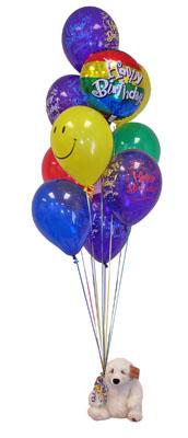 Ankara Sincan çiçekçi mağazası  Sevdiklerinize 17 adet uçan balon demeti yollayin.