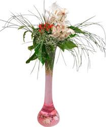 Ankara Sincan İnternetten çiçek siparişi  Filayagi cam vazo içerisinde orkide ve güllerle ha