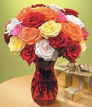 Ankara Sincan kaliteli taze ve ucuz çiçekler  13 adet renkli gül