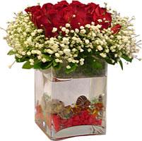 Ankara Sincan çiçek siparişi vermek  9 adet kirmizi gül ve cam yada mika tanzim