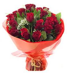 Ankara Sincan kaliteli taze ve ucuz çiçekler  11 adet kimizi gülün ihtisami buket modeli