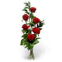 Ankara Sincan online çiçek gönderme sipariş  cam yada mika vazo içerisinde 6 adet kirmizi gül