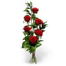 Ankara Sincan çiçek servisi , çiçekçi adresleri  mika yada cam vazoda 6 adet essiz gül