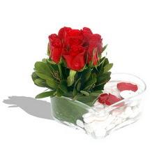 Mika kalp içerisinde 9 adet kirmizi gül  Ankara Sincan online çiçekçi , çiçek siparişi