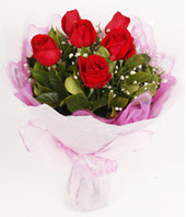 9 adet kaliteli görsel kirmizi gül  Ankara Sincan hediye çiçek yolla