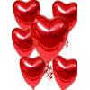 Ankara Sincan çiçek gönderme  17 adet FOLYO kalp görünümünde uçan balon