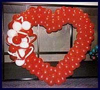 Kirmizi kalp biçiminde balon tanzimi  Ankara Sincan hediye çiçek yolla