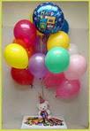 Ankara Sincan kaliteli taze ve ucuz çiçekler  25 adet uçan balon ve 1 kutu çikolata hediye