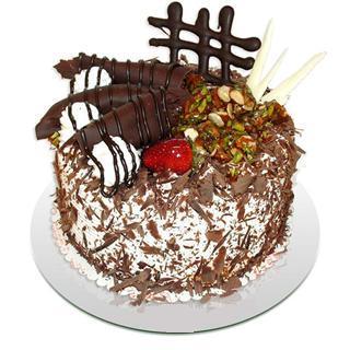 4 ile 6 kisilik çikolatali yas pasta  Ankara Sincan İnternetten çiçek siparişi