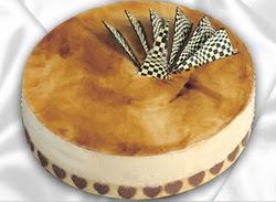 taze pasta 4 ile 6 kisilik yas pasta karamelli yaspasta  Ankara Sincan cicekciler , cicek siparisi
