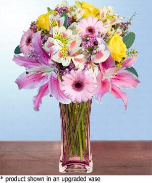 Anneme hediye karisik cam mevsim demeti  Ankara Sincan uluslararası çiçek gönderme