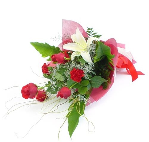Mevsim çiçeklerinden karisik buket  Ankara Sincan hediye sevgilime hediye çiçek