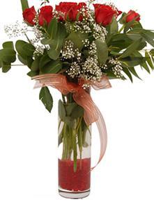 Ankara Sincan çiçek servisi , çiçekçi adresleri  11 adet kirmizi gül vazo çiçegi
