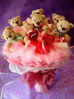 11 adet ayiciktan buket ayicik demeti  Ankara Sincan online çiçek gönderme sipariş