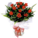 sincan çiçekçi Ankara Sincan internetten çiçek satışı  9 adet güzel bir gül buketi