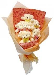 12 adet ayiciktan buket  Ankara Sincan online çiçek gönderme sipariş