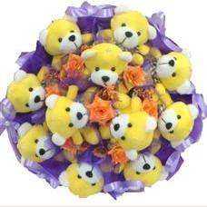 11 adet pelus ayicik buketi  Ankara Sincan çiçek yolla , çiçek gönder , çiçekçi